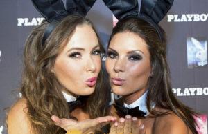Tanja König (Miss Mai 2012 aus Dingolfing) lks. und Verena Stangl (Miss Juni 2013 aus Regensburg)