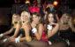 München, Club P1, 13.09.2014, Playboy Club-Tour 2014/2015, Club  P1  Bild: Die Playmates posieren in Hugh Hefners rundem Bett